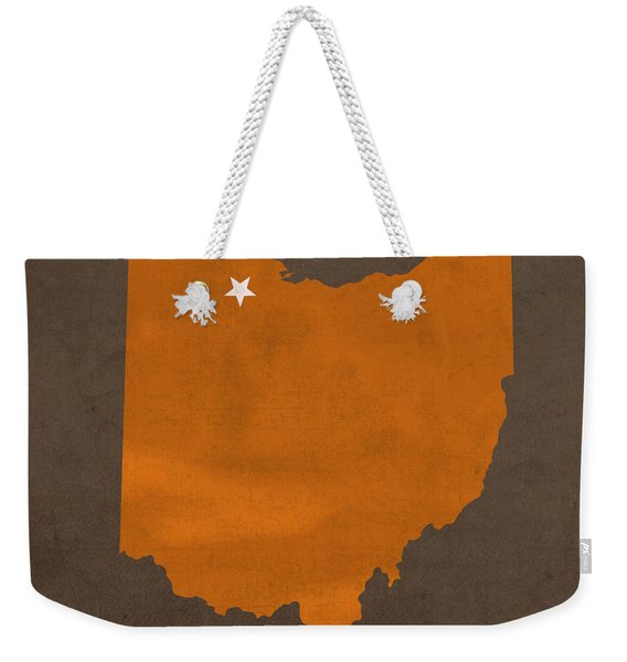 Bowling Green State University Falcons Ohio College Town State Map Poster Series No 021 Weekender Tote Bag