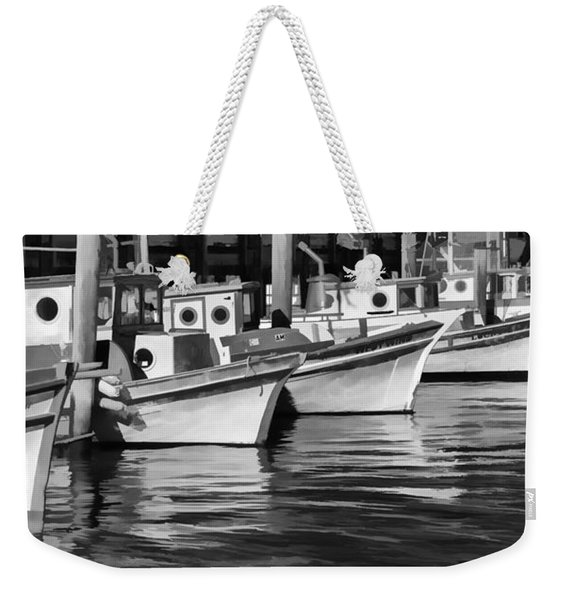 Bows Out Black And White Weekender Tote Bag