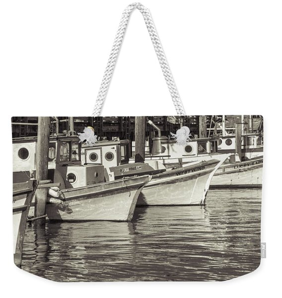 Bows Out Sepia Weekender Tote Bag