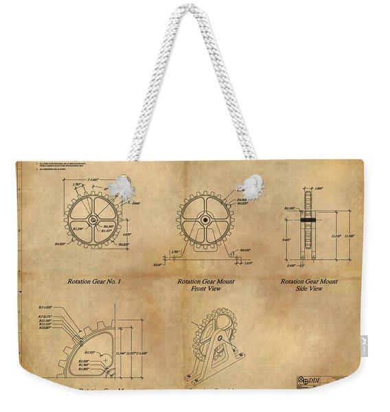 Box Gear And Housing Weekender Tote Bag