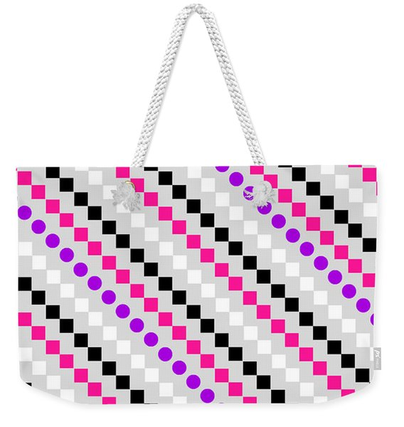 Boxed Stripe Weekender Tote Bag