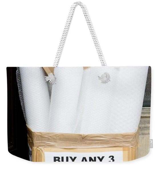 Boxes And Bubblewrap Weekender Tote Bag
