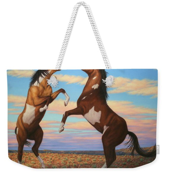 Boxing Horses Weekender Tote Bag