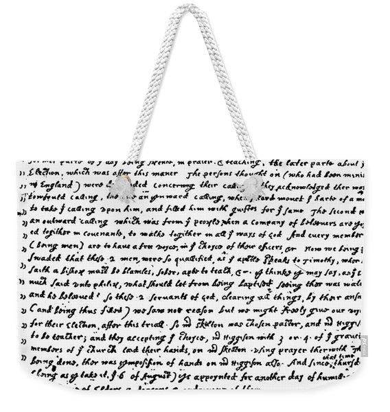 Bradford Plymouth Weekender Tote Bag