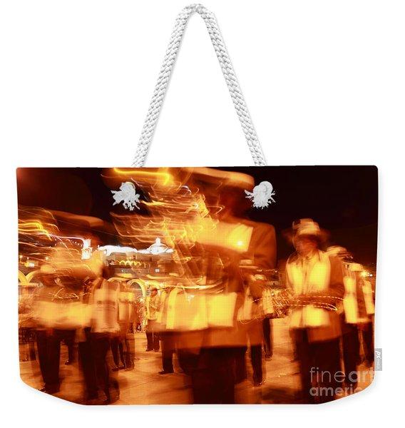 Brass Band At Night Weekender Tote Bag