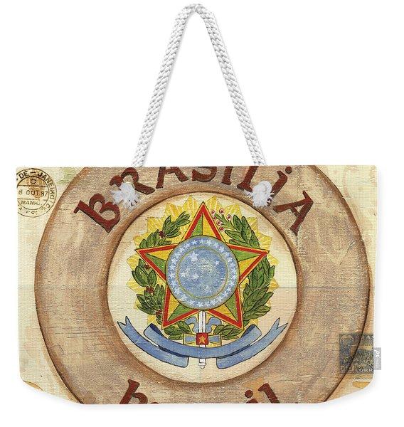 Brazil Coat Of Arms Weekender Tote Bag