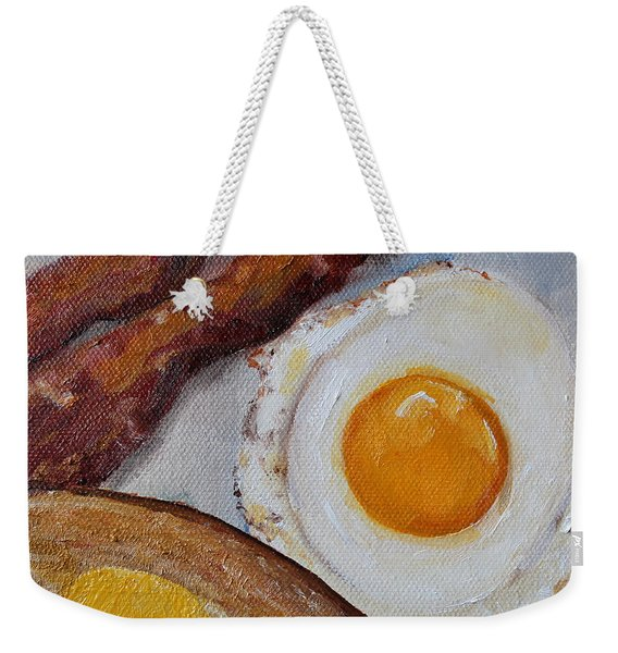 Breakfast Bacon Egg And Toast Weekender Tote Bag