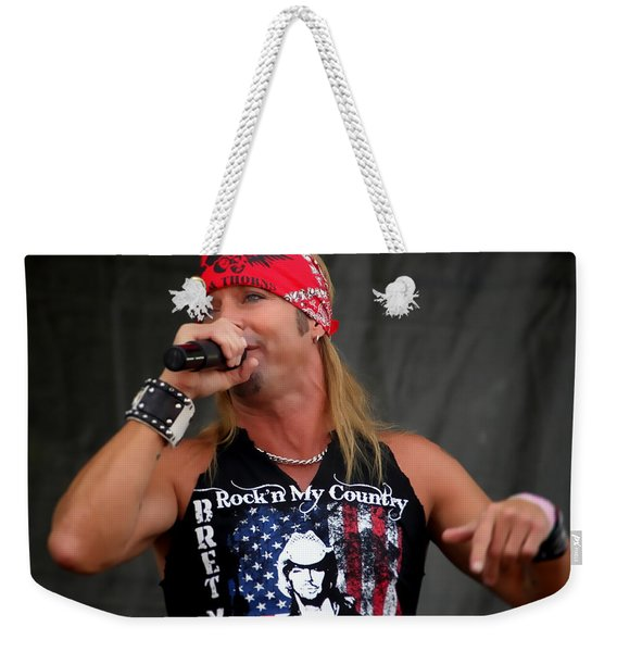 Bret Michaels In Philly Weekender Tote Bag
