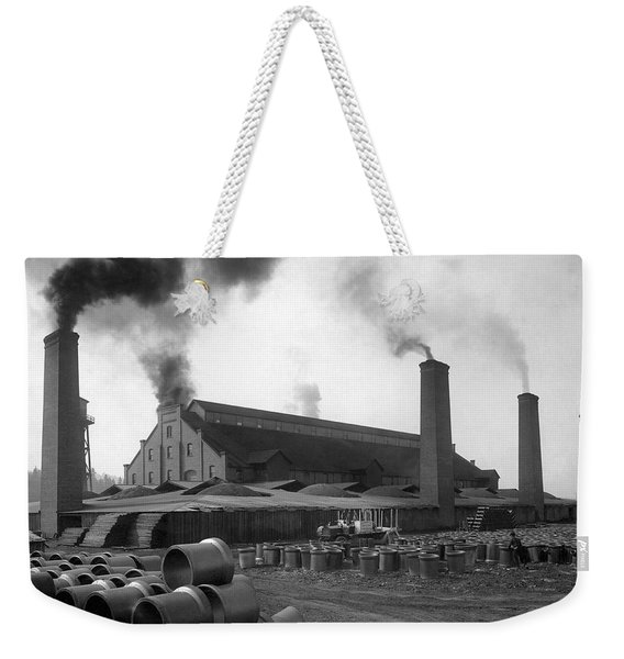 Brick And Lime Company Factory Weekender Tote Bag