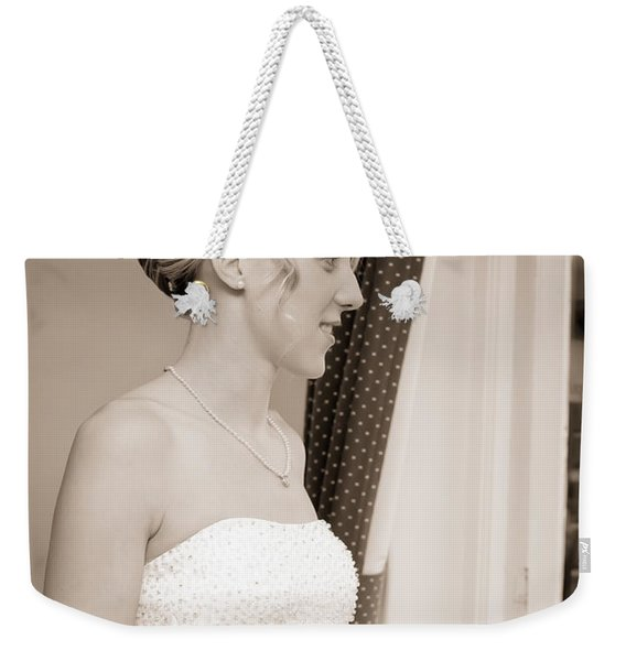 Bride Awaits Her Groom Weekender Tote Bag