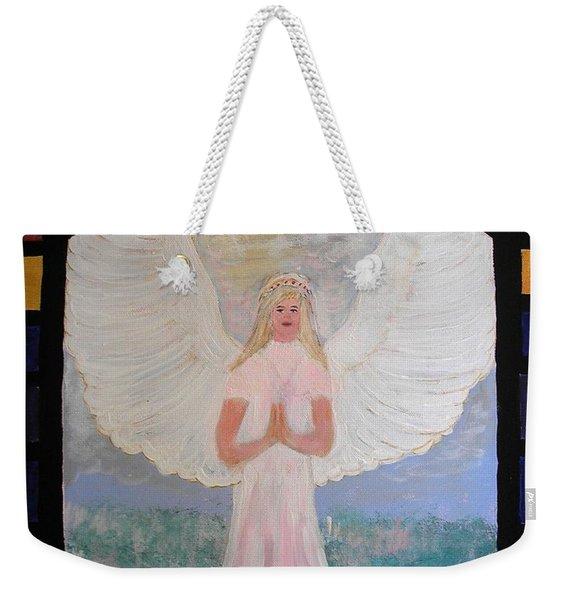 Angel In Prayer  Weekender Tote Bag