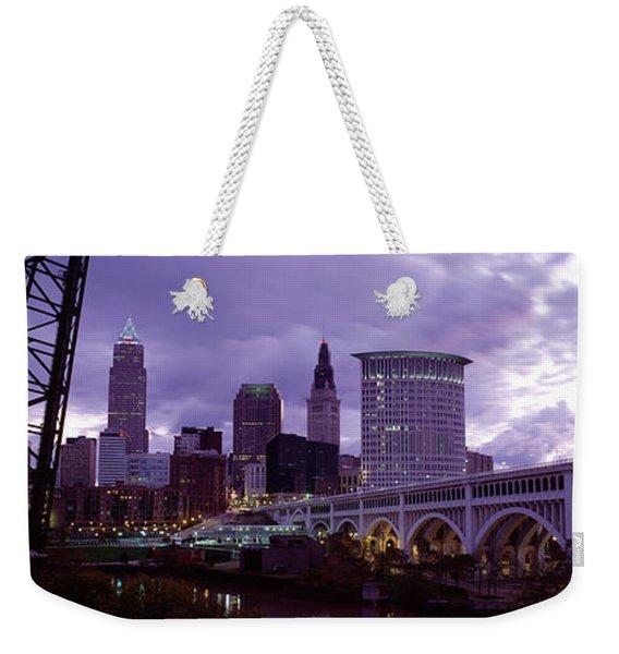 Bridge Across A River, Detroit Avenue Weekender Tote Bag
