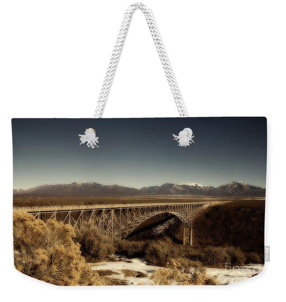 Bridge Across The Rio Grande River-arizona V2 Weekender Tote Bag