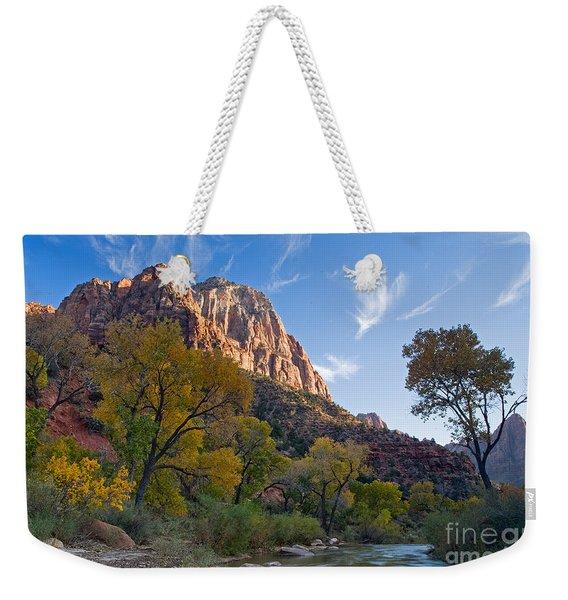 Bridge Mountain Weekender Tote Bag