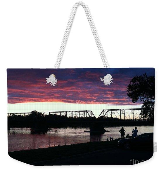 Bridge Sunset In June Weekender Tote Bag