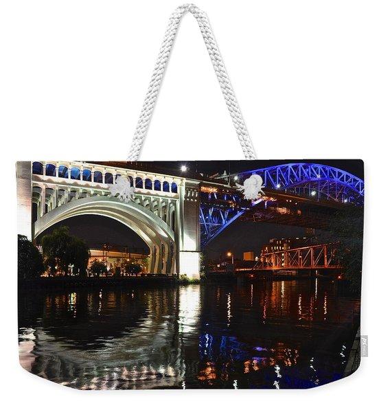 Bridges Over Cuyahoga Weekender Tote Bag