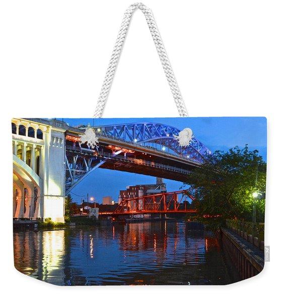 Bridges Over The Cuyahoga Weekender Tote Bag
