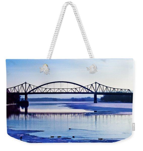 Bridges Over The Mississippi Weekender Tote Bag