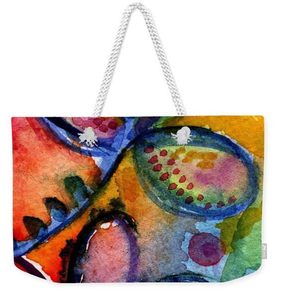 Bright Abstract Flowers Weekender Tote Bag