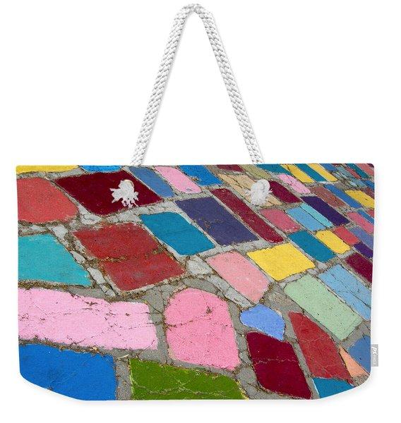 Bright Paving Stones Weekender Tote Bag