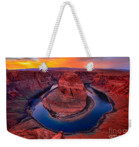Bright Skies Over Horseshoe Weekender Tote Bag