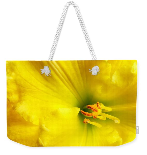 Bright Yellow Lily Weekender Tote Bag