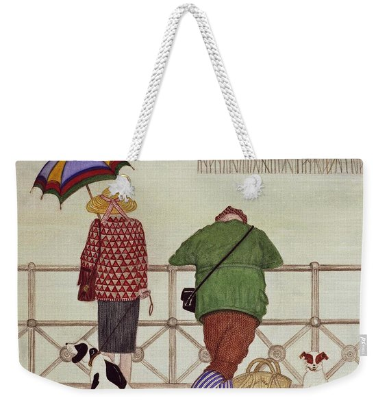 Brighton Pier, 1986 Watercolour On Paper Weekender Tote Bag