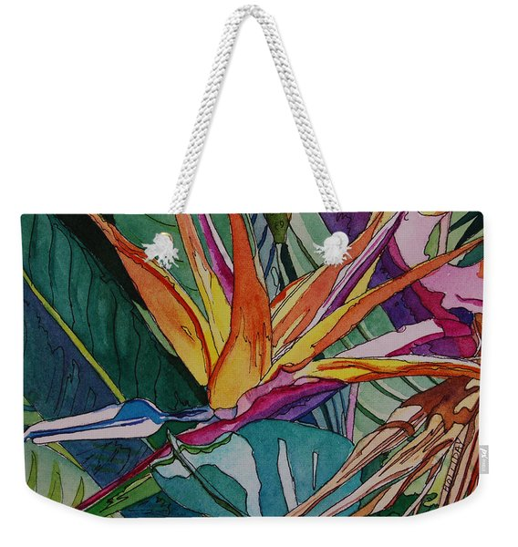 Brillant Bird Of Paradise Weekender Tote Bag