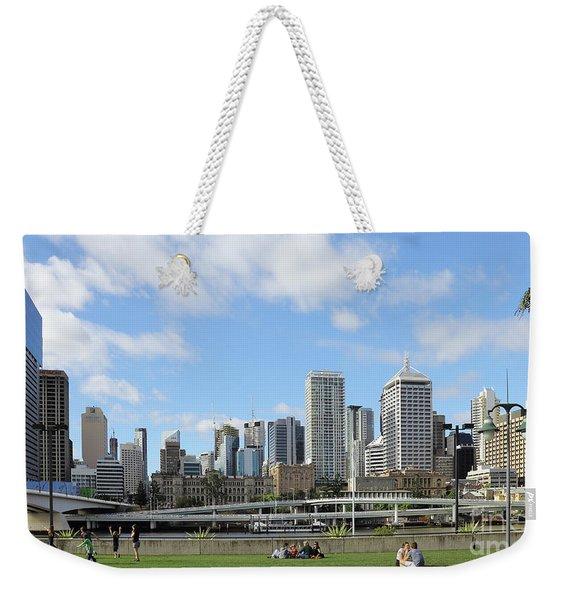 Brisbane City Weekender Tote Bag