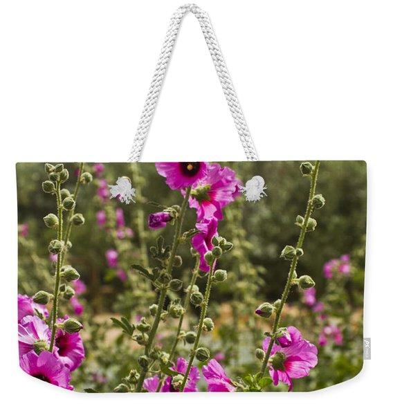 Bristly Hollyhock Weekender Tote Bag