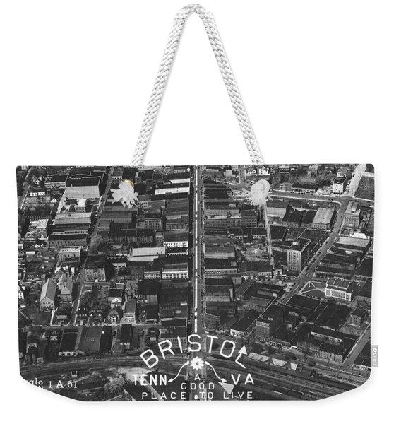Bristol Virginia Tennessee Early Aerial Photo Weekender Tote Bag