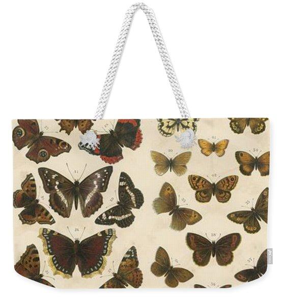 British Butterflies Weekender Tote Bag