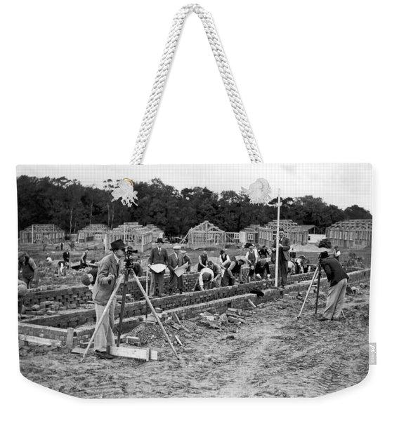 British Construction Scene Weekender Tote Bag