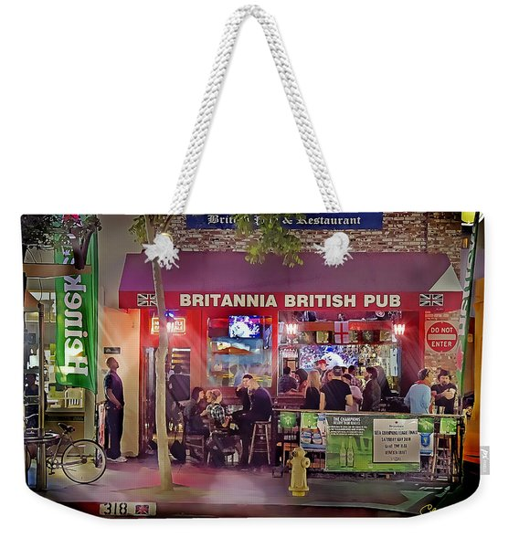 British Pub Weekender Tote Bag