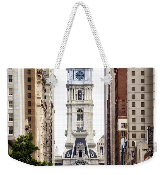 Broad Street And City Hall Weekender Tote Bag