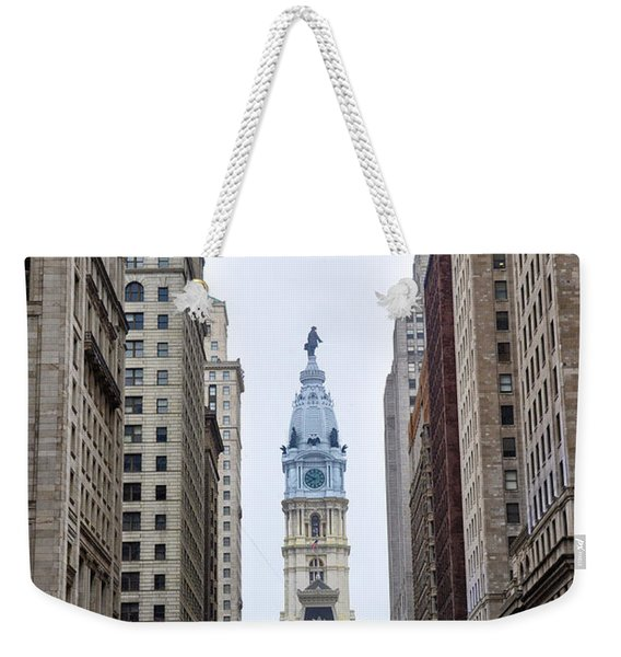 Broad Street In Philadelphia Weekender Tote Bag
