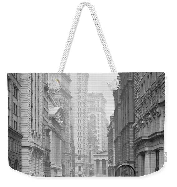 Broad Street, New York City, C.1905 Bw Photo Weekender Tote Bag