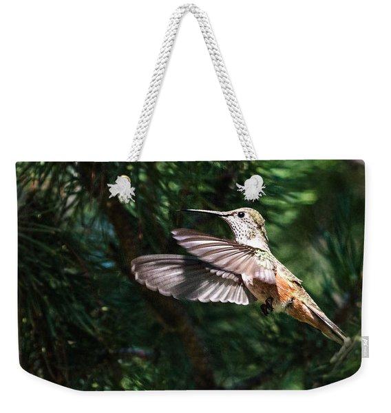 Broad-tailed Hummingbird Weekender Tote Bag