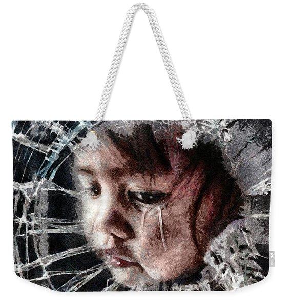 Broken Weekender Tote Bag