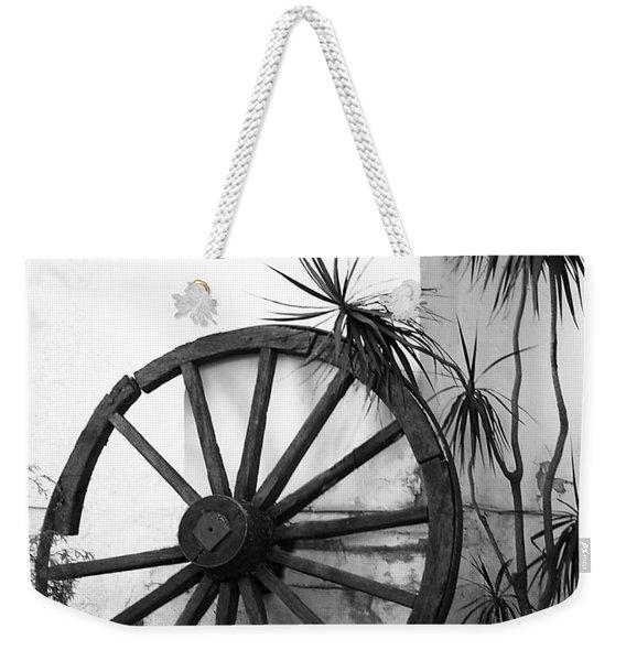 Broken Wheel Weekender Tote Bag
