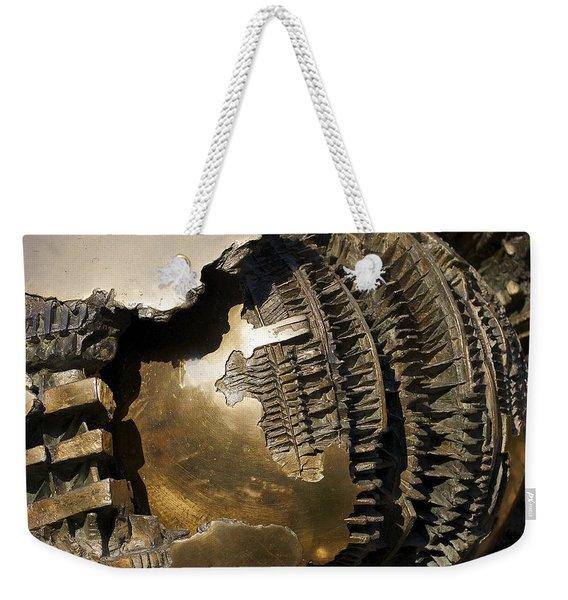 Bronze Abstract Weekender Tote Bag