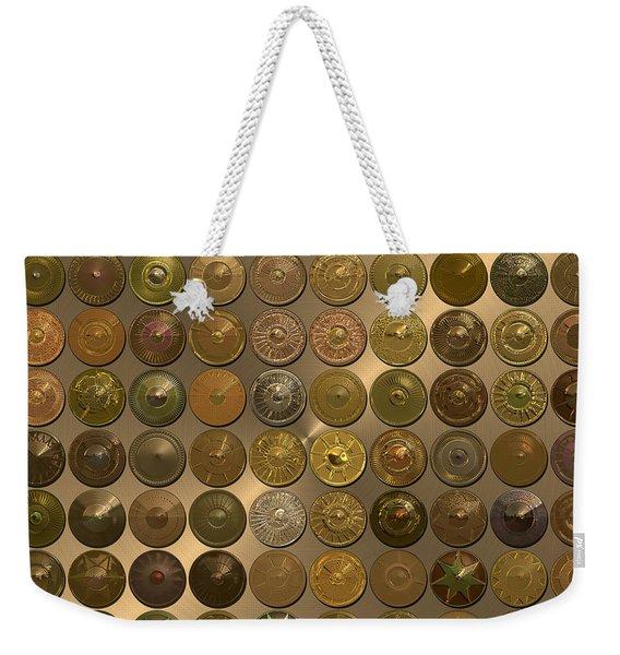 Bronzed Hubcaps Weekender Tote Bag