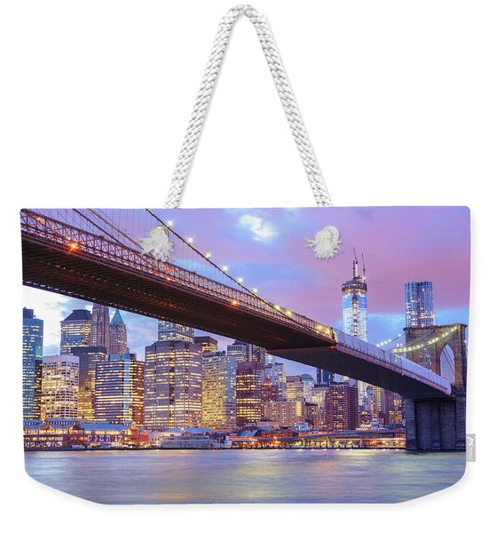 Brooklyn Bridge And New York City Skyscrapers Weekender Tote Bag