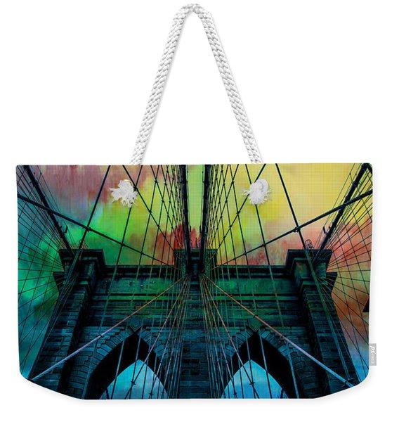 Psychedelic Skies Weekender Tote Bag