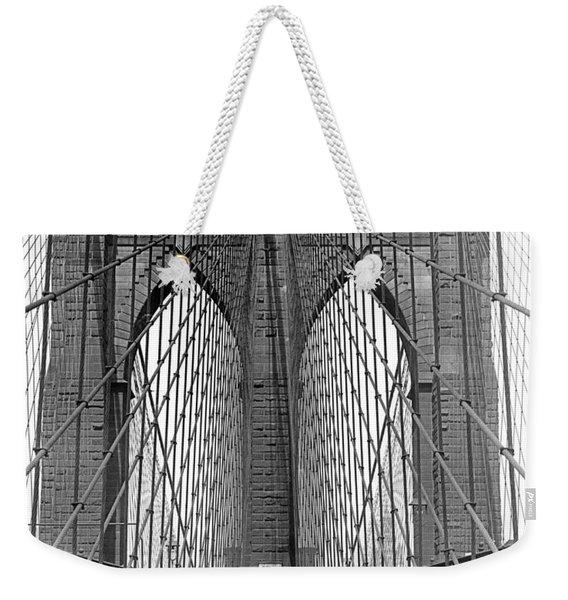 Brooklyn Bridge Promenade Weekender Tote Bag