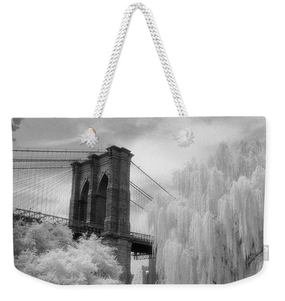 Brooklyn Bridge Willows Weekender Tote Bag