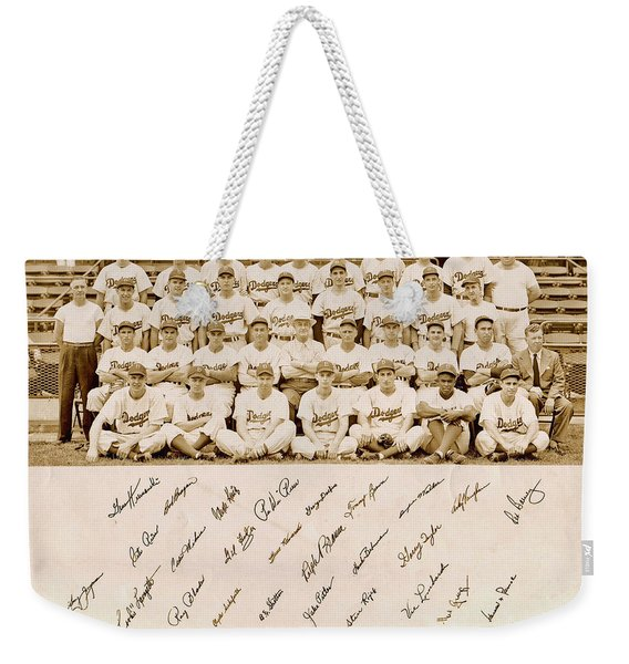 Brooklyn Dodgers Baseball Team Weekender Tote Bag