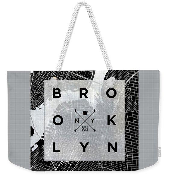 Brooklyn Square Bw Weekender Tote Bag