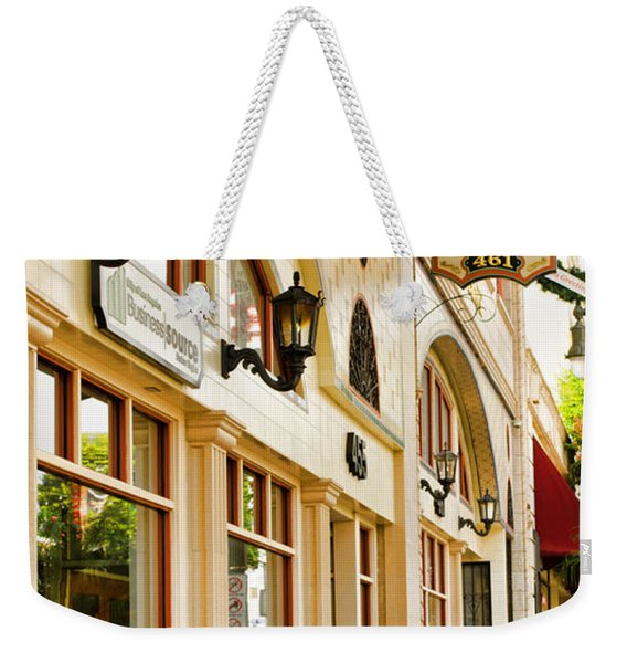 Brown Bros Building Weekender Tote Bag