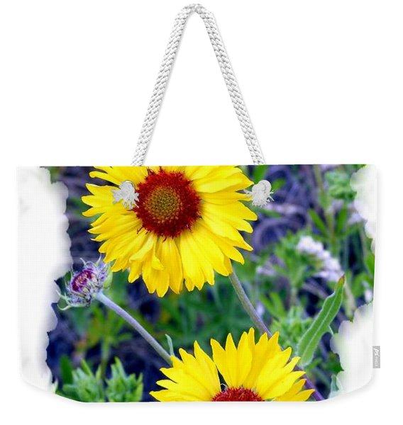 Brown- Eyed Susans Weekender Tote Bag